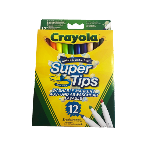 Crayola Supertips Pens - 12 Pack