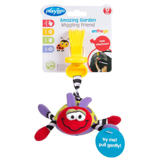 Playgro Wiggling Friends Ladybug