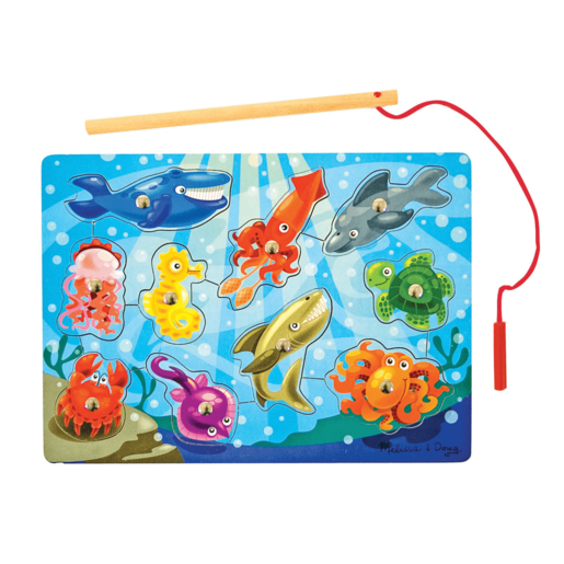 Melissa & Doug Magnetic Wooden Fishing Game