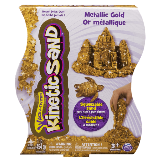 Kinetic Sand Metallic Gold Colour Sand 454g