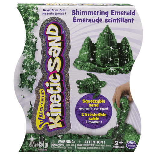 Kinetic Sand Gem Sand - Emerald Colour 454g