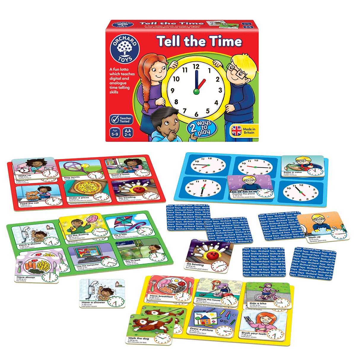 Tell The Time Game Early Learning Centre Orchard toys where do i live? tell the time game