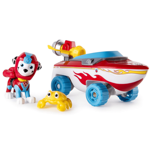 Paw Patrol Sea Patrol - Marshall's Transforming Sea Patrol Vehicle with Sea Crab Friend