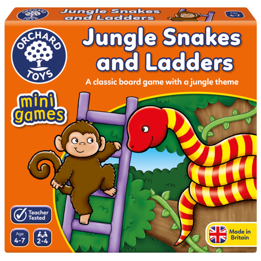 Orchard Toys Mini Game - Jungle Snakes and Ladders