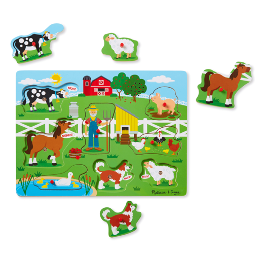 Melissa and Doug Old McDonald's Farm Sound Puzzle