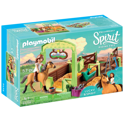 Playmobil DreamWorks Spirit Lucky and Spirit with Horse Stall - 9478