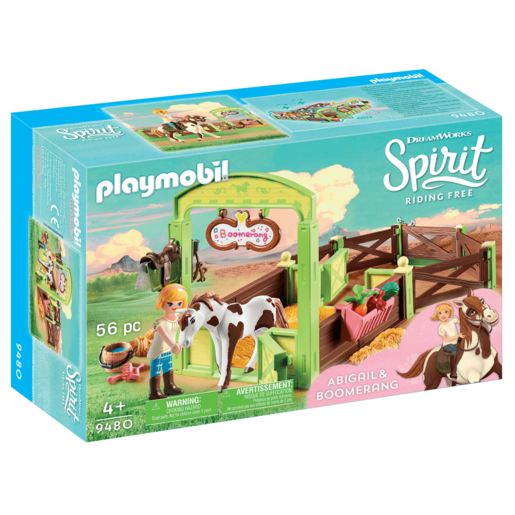 Playmobil DreamWorks Spirit Abigail and Boomerang with Horse Stall - 9480