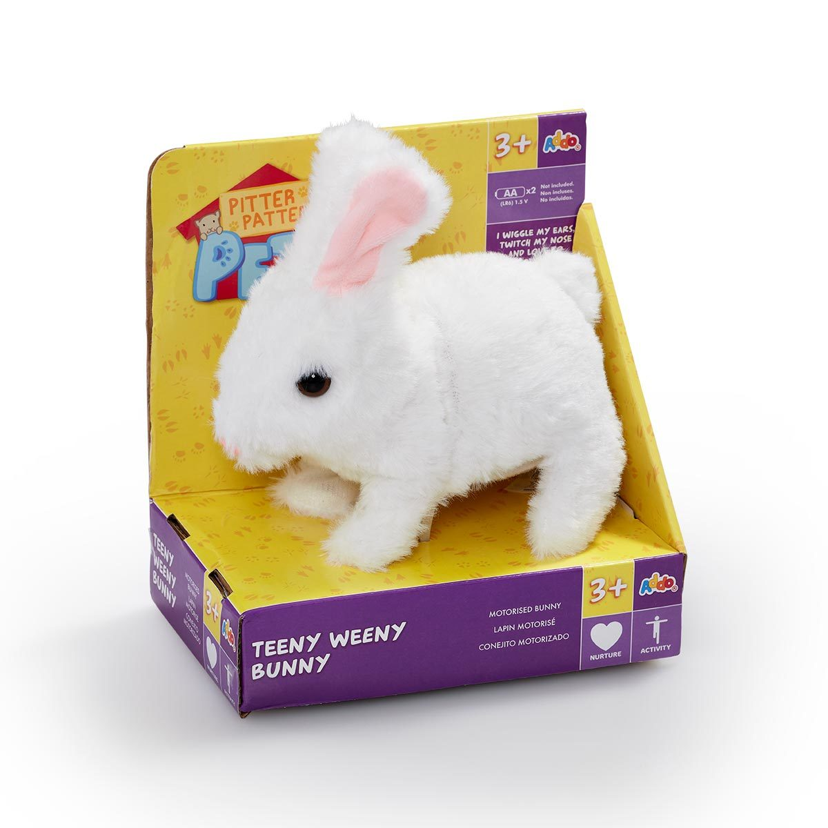 Pitter Patter Pets Teeny Weeny Bunny - White Bunny