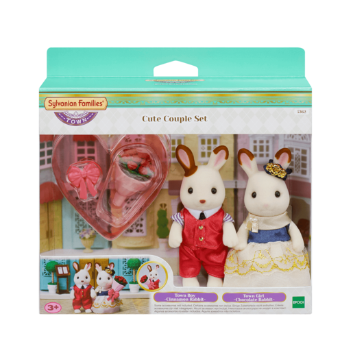 Sylvanian Families Cute Rabbit Couple Set