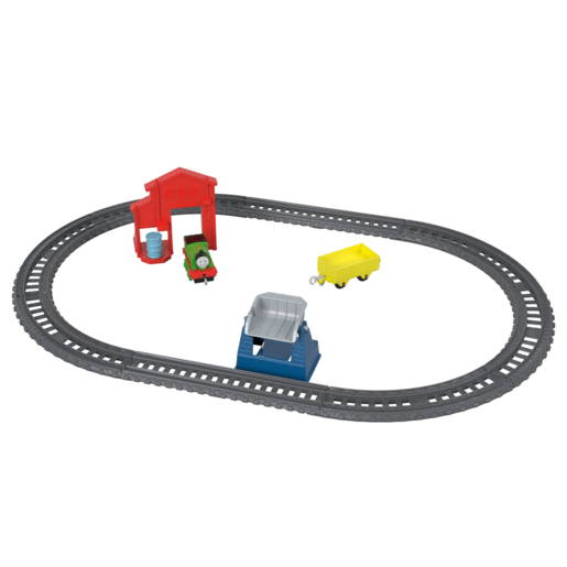 Fisher-Price Thomas & Friends TrackMaster - Percy's Barrel Drop Metal Train Engine Playset