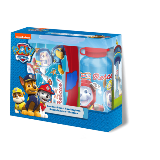 Paw Patrol Sandwich Box and 400ml Canteen - Blue
