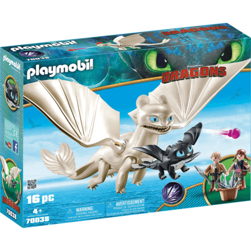Playmobil DreamWorks Dragons Light Fury with Baby Dragon - 70038