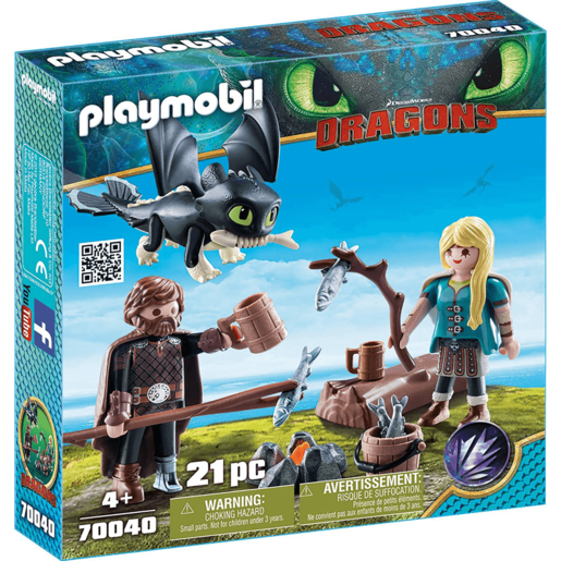 Playmobil DreamWorks Dragons Hiccup and Astrid - 70040