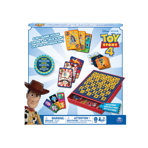Disney Pixar Toy Story 4 6-In-1 Game House