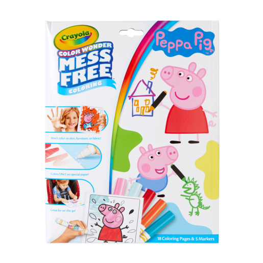 Peppa Pig Crayola Color Wonder Mess Free Book