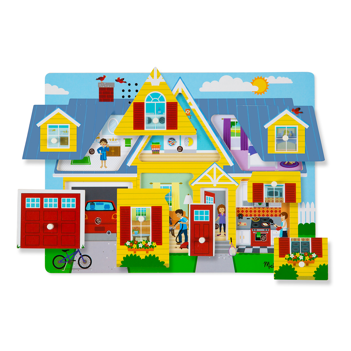 Melissa and Doug Around the House Sound Puzzle from Early Learning Center
