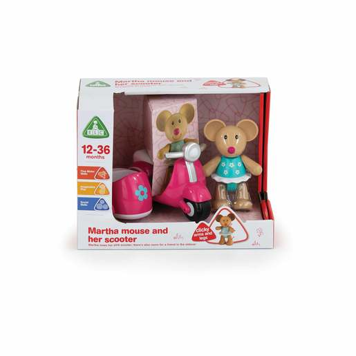 Early Learning Centre Toybox Martha Mouse and Vehicle