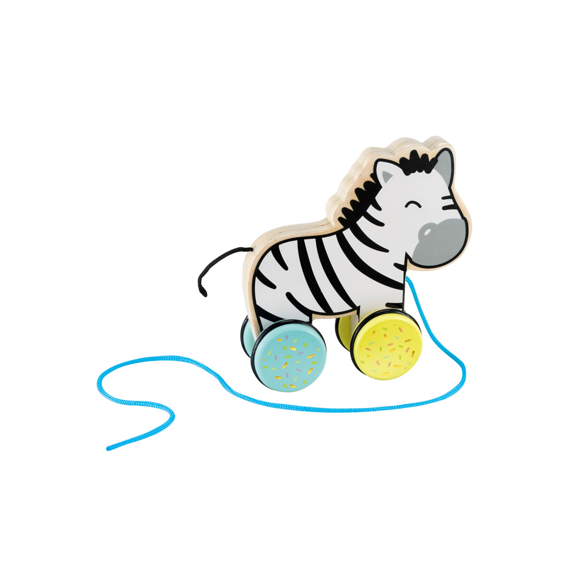 Early Learning Centre Wooden Pull Along Zebra
