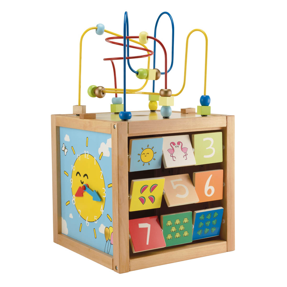 Early Learning Centre Giant Wooden Activity Cube - Blue from Early Learning Center