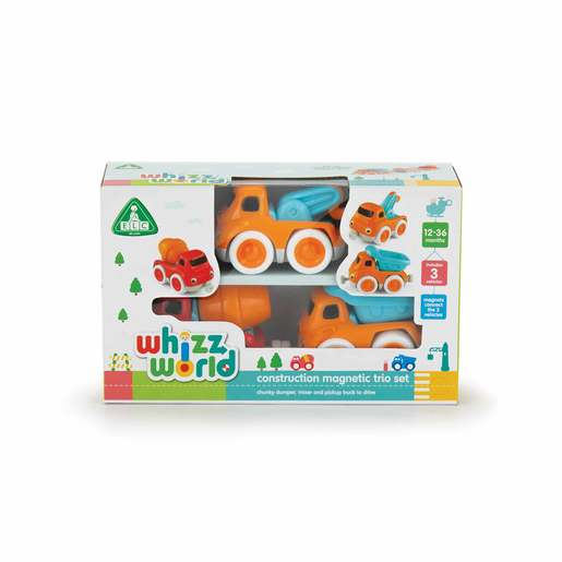 Whizz World Construction Vehicle Magnetic Trio Set