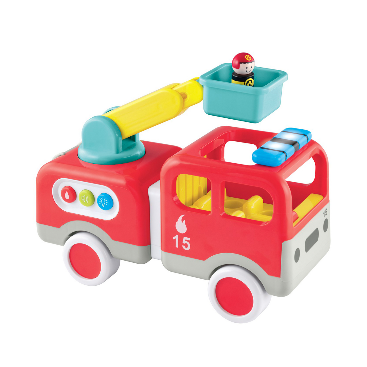Whizz World Lights and Sounds Fire Engine from Early Learning Center