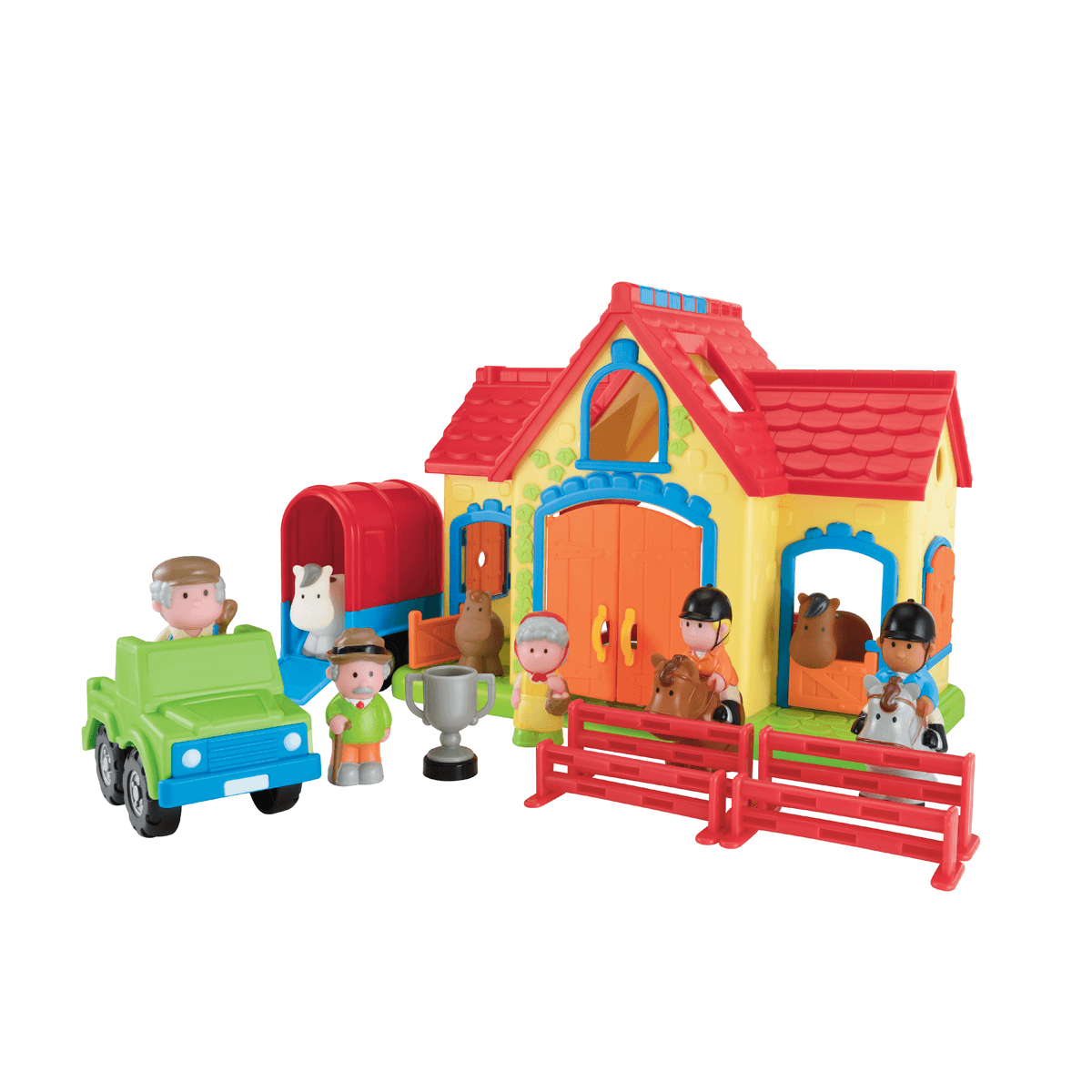 Happyland Stables Playset from Early Learning Center
