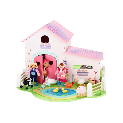 Rosebud Wooden Farm Set