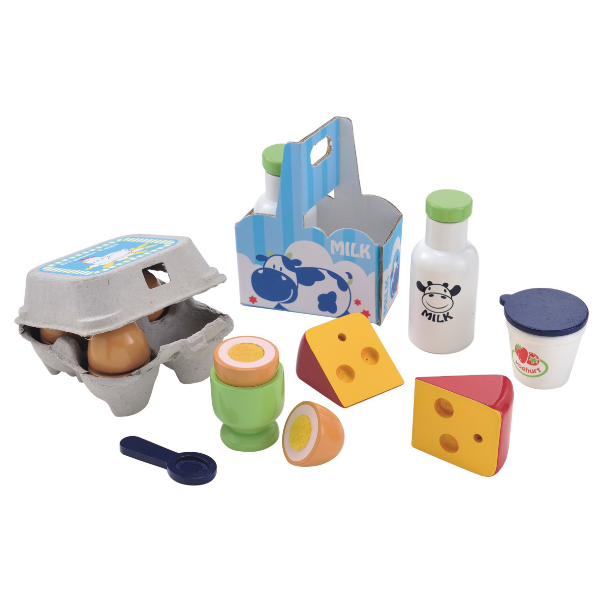 Early Learning Centre Wooden Dairy and Eggs Set