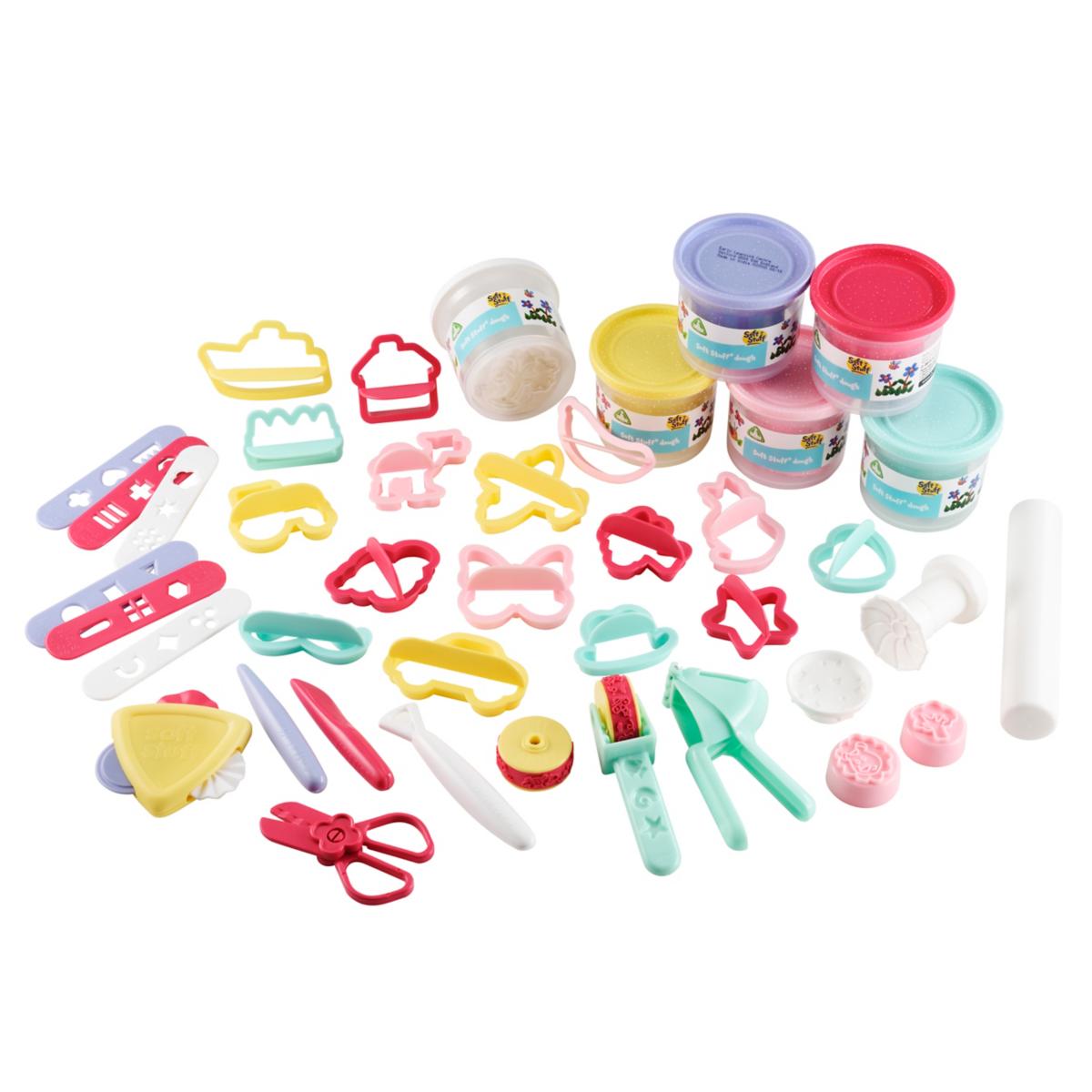 Soft Stuff Bumper Dough and Tool Set - Pastel