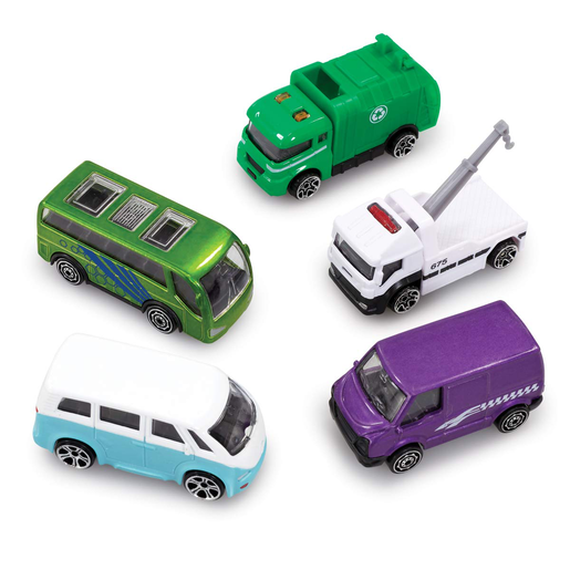 Big City 5 Pack Cars - Vans