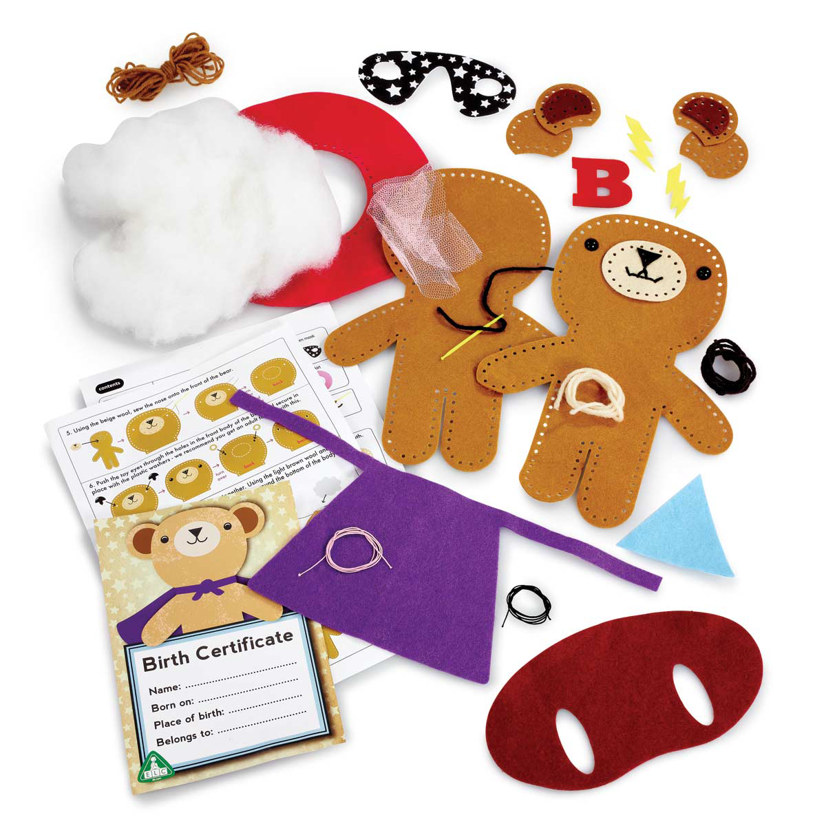 Sew Your Own Teddy from Early Learning Center