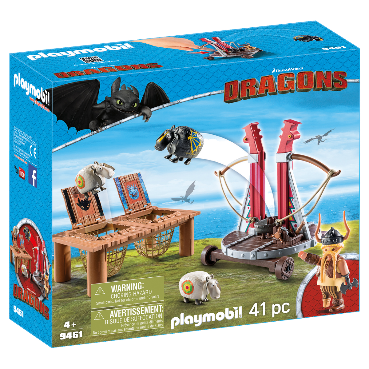 Playmobil: DreamWorks Dragons 9461 Gobber the Belch with Sheep Sling