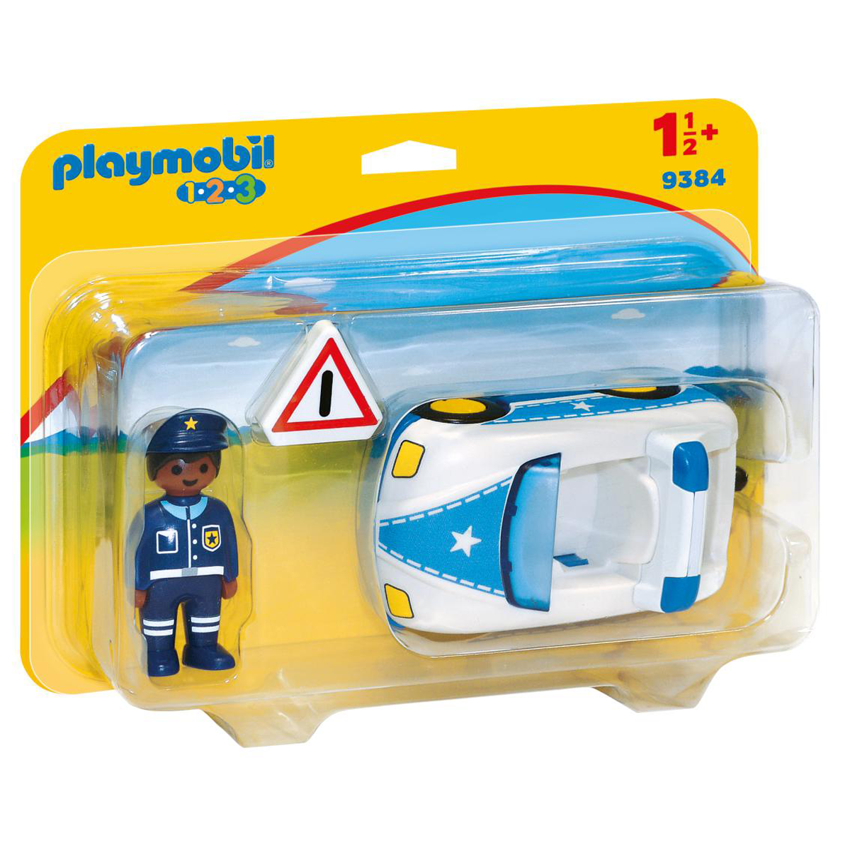 Playmobil 9384 1.2.3 Police Car with Trailer Hitch from Early Learning Center