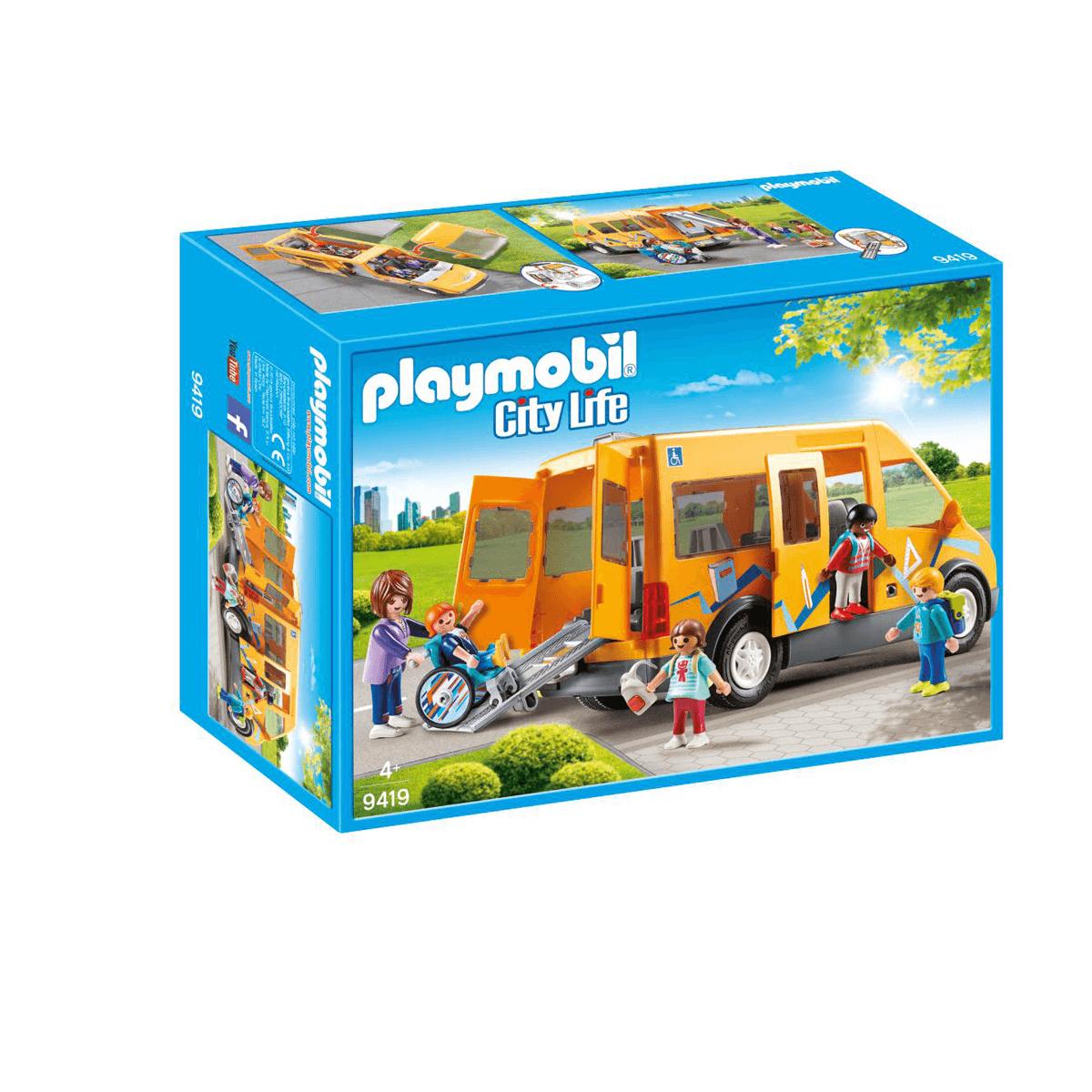 Playmobil City Life School Van with Folding Ramp - 9419