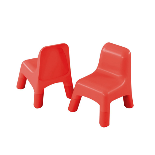 Early Learning Centre Pair of 2 Plastic Chairs - Red