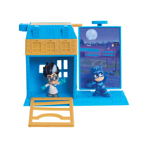 PJ Masks Micro Trap and Escape Playset - Catboy and Romeo