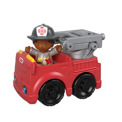 Fisher-Price Little People Vehicle and Figure - Firefighter and Fire Truck