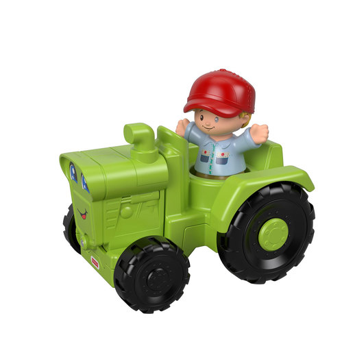 Fisher-Price Little People Vehicle and Figure - Farmer and Green Tractor