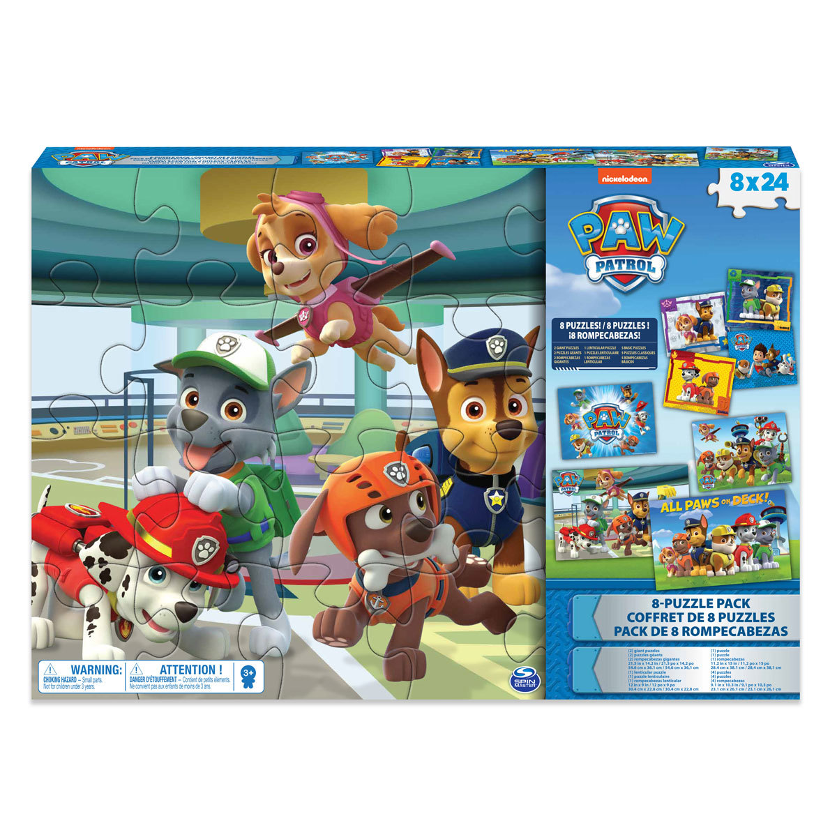 Paw Patrol Puzzles 8 Pack