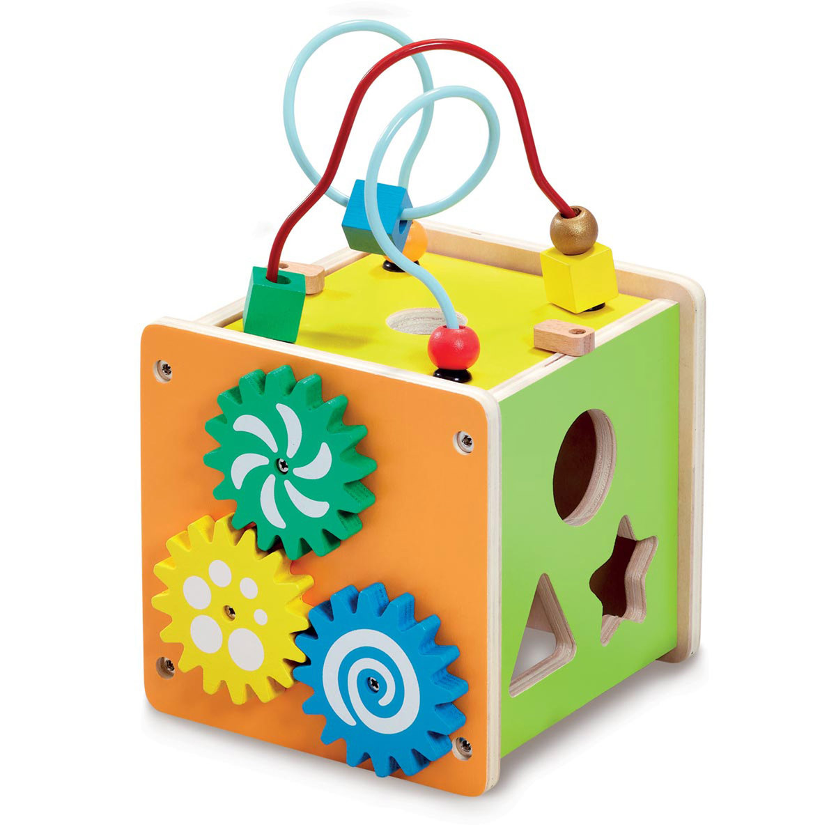 Early Learning Centre Classic Wooden Mini Activity Cube from Early Learning Center