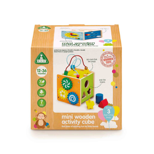Early Learning Centre Classic Wooden Small Activity Cube