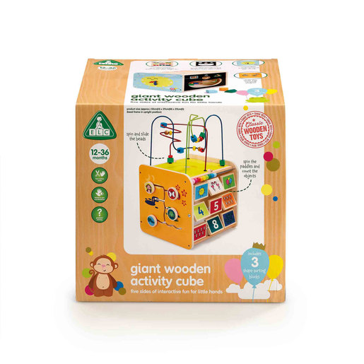 Early Learning Centre Classic Wooden Giant Activity Cube