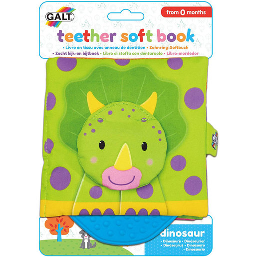 Galt Teether Soft Book - Dinosaurs