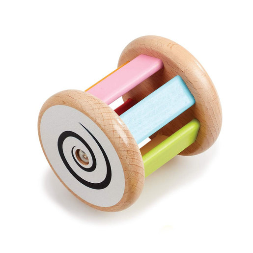 Early Learning Centre Wooden Jingle and Roll Rattle