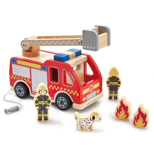 Early Learning Centre Wooden Fire Engine Playset
