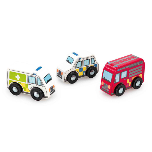 Early Learning Centre Wooden Emergency Vehicles