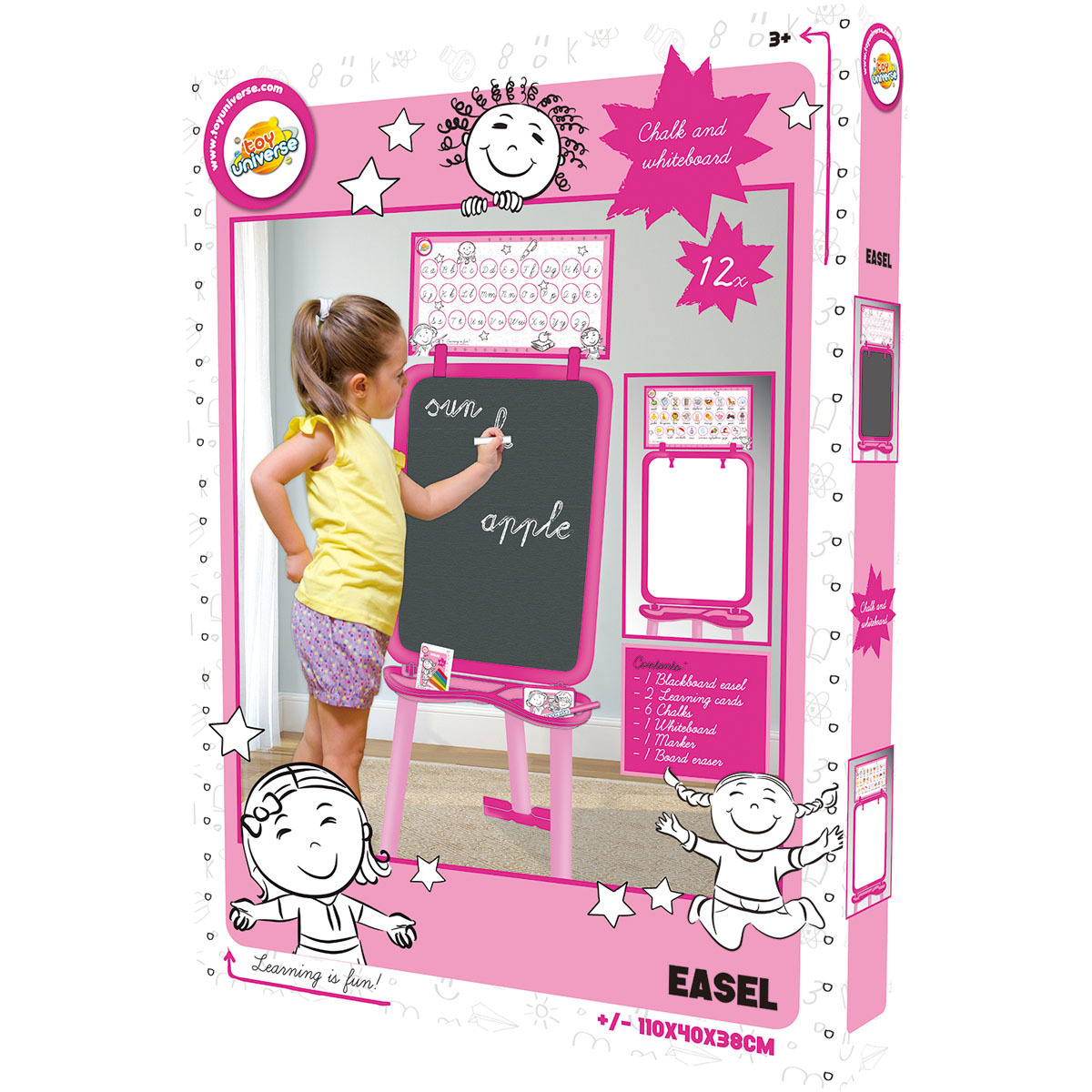 Toy Universe Easel - Pink from Early Learning Center