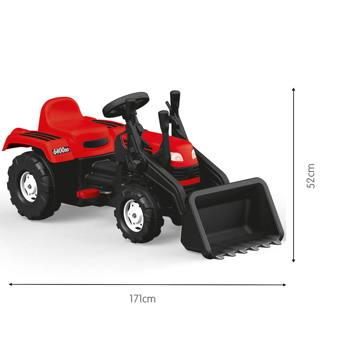Dolu Pedal Tractor and Excavator (Styles Vary)
