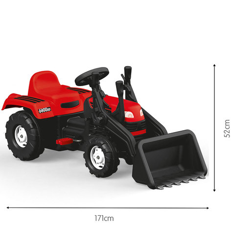 Dolu Pedal Tractor and Excavator - Red