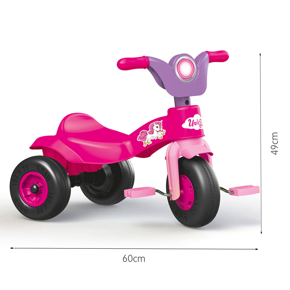 Dolu Unicorn Trike Ride-On - Pink from Early Learning Center
